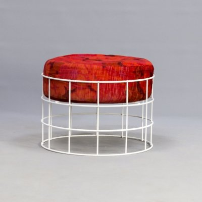 50s Verner Panton 'T1' wire stool for Plus Linje