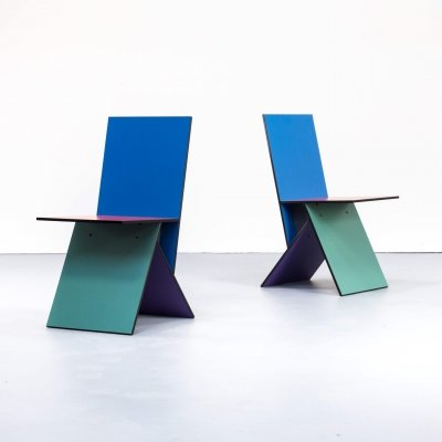 Pair of Verner Panton 'Vilbert' chairs for Ikea, 1990s