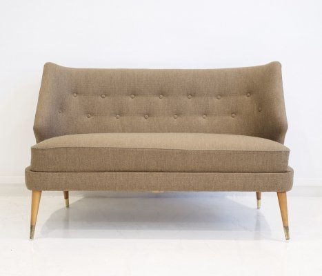 Wool Sofa with Curved Back by Arne Wahl Iversen
