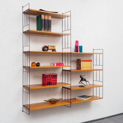 Large teak wall shelf by WHB, Germany