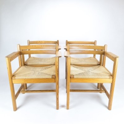 Set of 4 Asserbo Dining Chairs by Børge Mogensen
