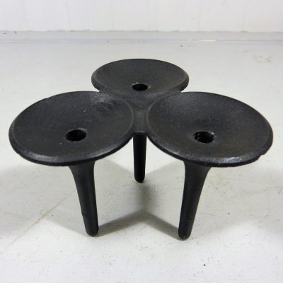 Cast Iron 'Hornblower' Candle Holder by Christel & Christer Holmgren, 1960's