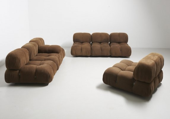 Camaleonda seating group in original fabric by Mario Bellini for C&B Italia, 1970s