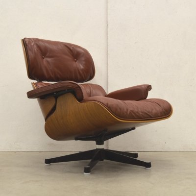 Redbrown Lounge Chair by Charles Eames for Herman Miller, 1970s