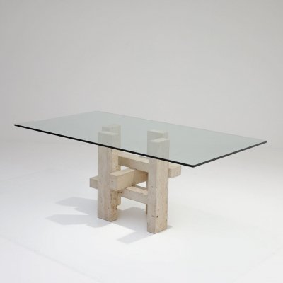 Unique table designed by Willy Ballez, 1970s