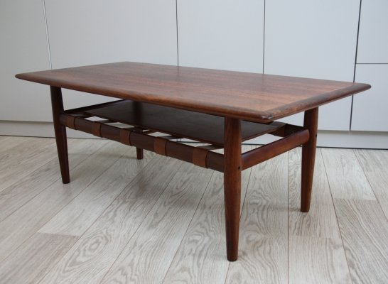 Coffee table in brazilian rosewood by Grete Jalk, Denmark 1960's