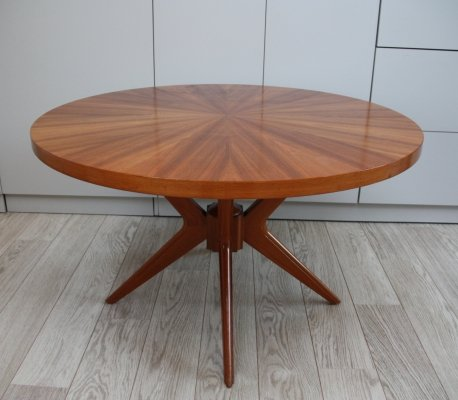 Circular wooden coffee table by Jese Mobel, Denmark 1960's