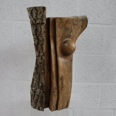 'Amazon' Sculpture in walnut by C. Di Placido, France 1990's