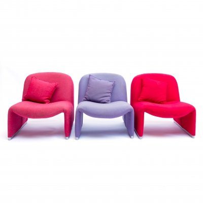 Set of three 'Alky Chairs' by Giancarlo Piretti for Castelli, Italy 1970s
