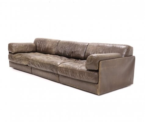 Mid Century Leather De Sede DS76 Element Sofa, 1970s