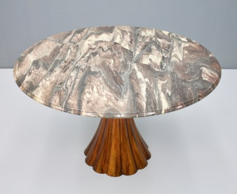 Tulip Dining Table with a Marble top, 1968