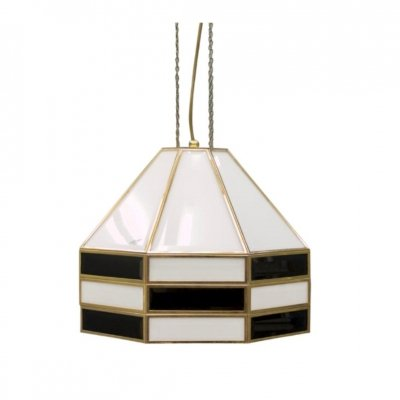 Rare Glass & Brass Pendant by Carl Zalloni