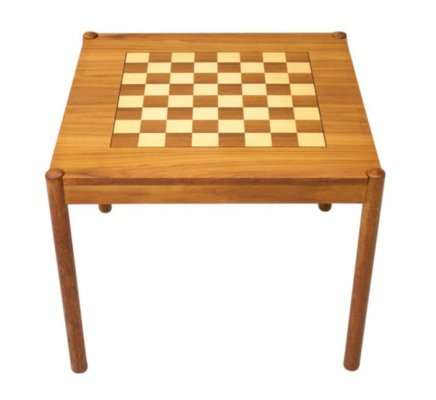 Chess table / side table in teak by Georg Petersen, Denmark 1960s
