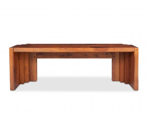 Hardwood Dining or Console Table by Giuseppe Rivadossi, 1970s
