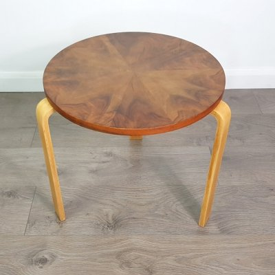Walnut Side Table by Alvar Aalto for Artek Pascoe, 1940s