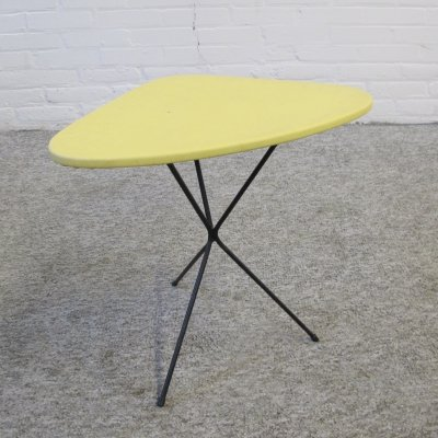 Vintage hairpin tripod side table, 1960s
