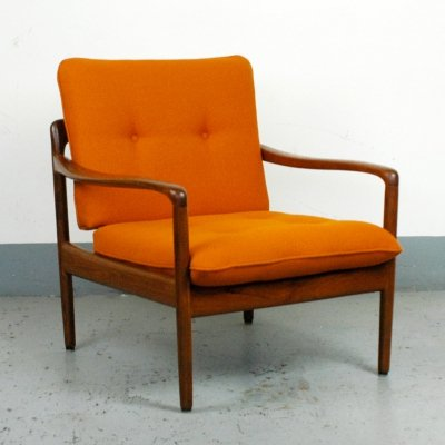 Teak Lounge Chair by Wilhelm Knoll