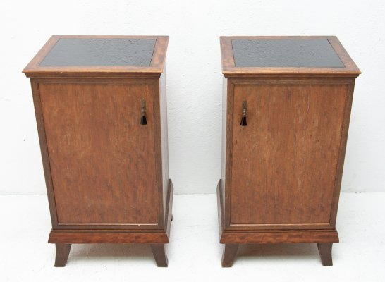 Pair of Art Deco night stands, 1930s