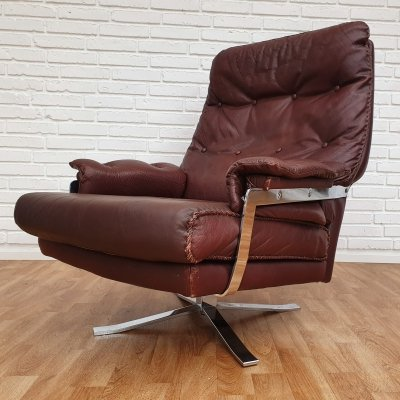 Leather lounge chair by Arne Norell, Sweden 1970s