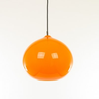 Orange glass pendant L 51 by Alessandro Pianon for Vistosi, 1960s