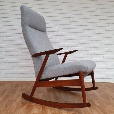 Scandinavian design Rocking chair in teak wood, 1960's
