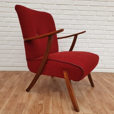 Danish armchair in stained beech, 50-60s