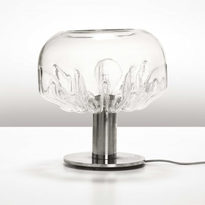 Rare 'Zinia' Table Lamp by Toni Zuccherii for Veart, 1970's