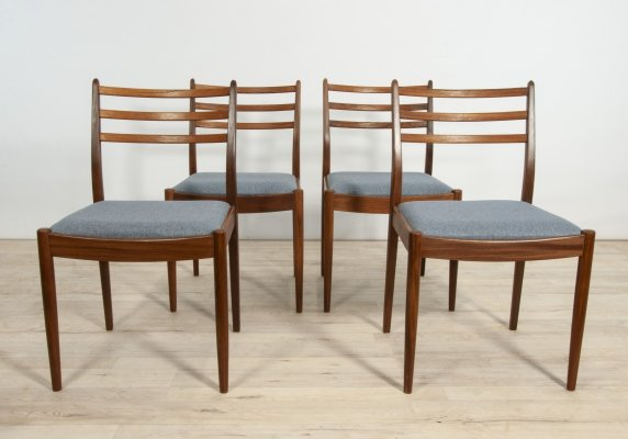 Set of 4 Dining Chairs by Victor Wilkins for G-Plan, 1960s