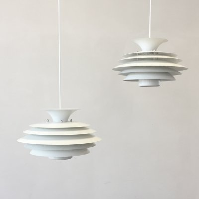 Pair of hanging lamps by Formlight Denmark, 1970s