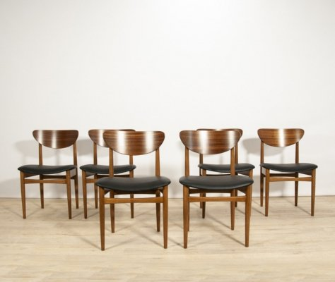 Set of 6 Mid-Century Danish Dining Chairs, 1960s