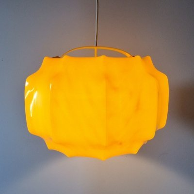 Midcentury 1960's Design Yellow Pendant Hanging lamp by Ilka, Germany