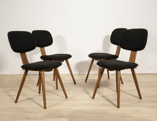 Set of 4 Mid-century 5827 Dining Chairs from Fameg Radomsko, Poland 1970s