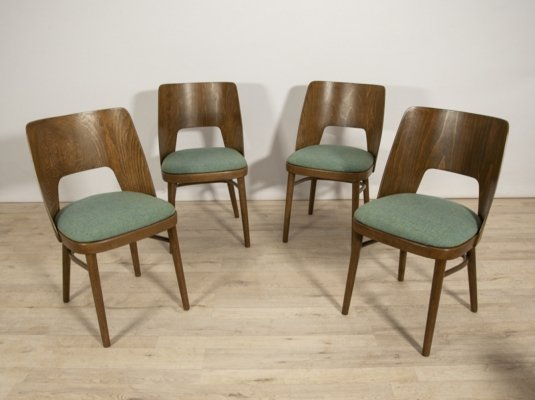 Set of 4 Lollipop Dining Chairs from Tatra, 1960s