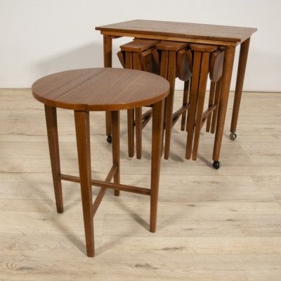 Set of 5 Mid-century Danish Teak Tables by Poul Hundevad, 1960s