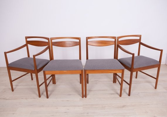 Set of 4 Mid-century Teak Dining Chairs by Tom Robertson for McIntosh, 1960s