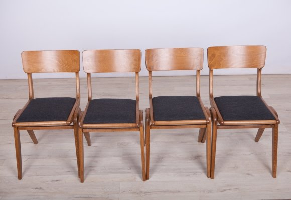 Set of 4 Boomerang Dining Chairs from Gościcińskie Furniture Factory, 1960s