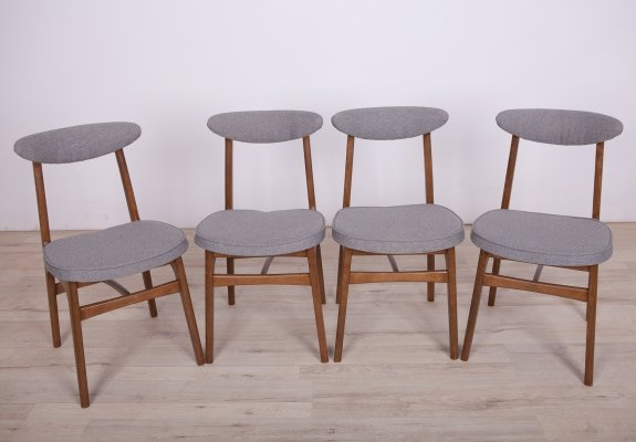Set of 4 Dining Chairs by Rajmund Teofil Hałas, 1960s