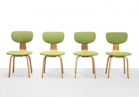 Set of 4 SB03 dining chairs by Cees Braakman for Pastoe, 1950s