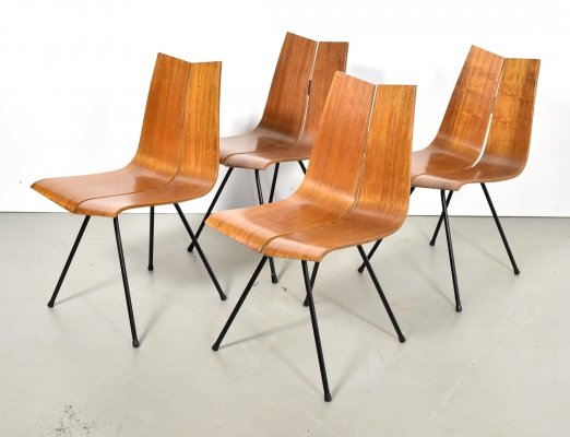 Set of 4 GA dining chairs by Hans Bellmann for Horgen Glarus, 1950s