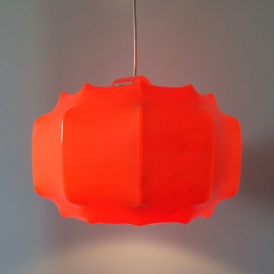 1960's Design Orange Pendant Hanging lamp by Ilka, Germany