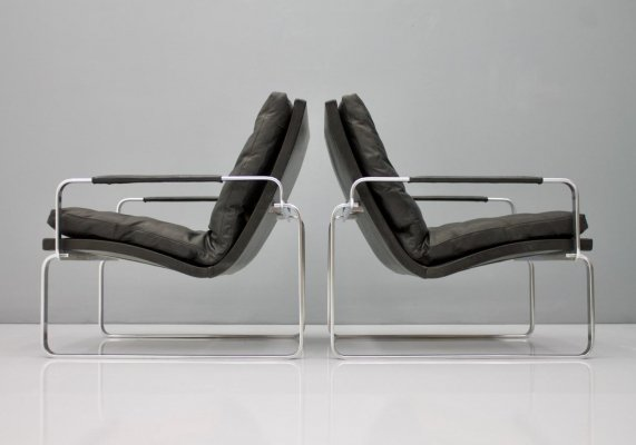 Pair of Danish 'BO-911' Lounge Chairs by Jørgen Lund & Ole Larsen for Bo-Ex Denmark
