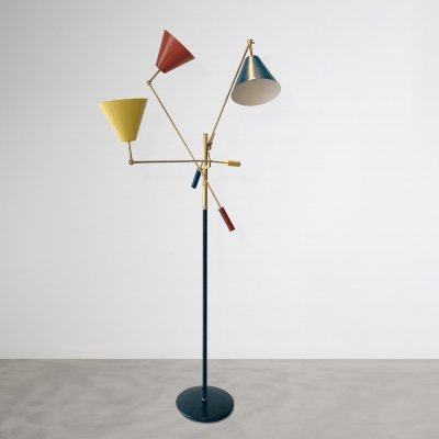 Angelo Lelii Triennale Floor Lamp for Arredoluce, 1950s