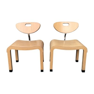 Birch wood Moment chair by Ruud Jan Kokke for KEMBO, 1990s