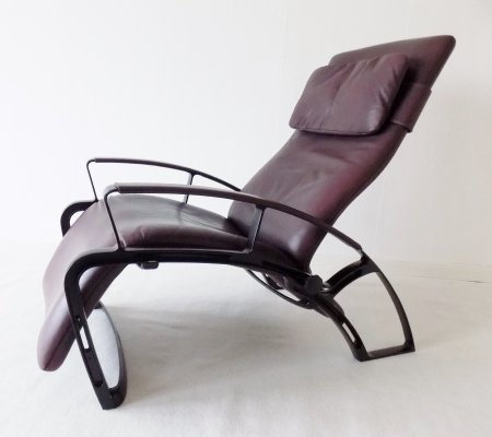 Interprofil IP84S Reclining Leather Lounge Chair by Ferdinand A. Porsche