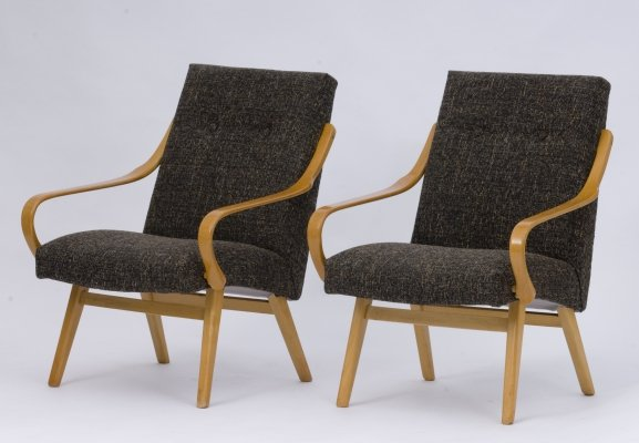 Pair of TON lounge chairs, 1960s
