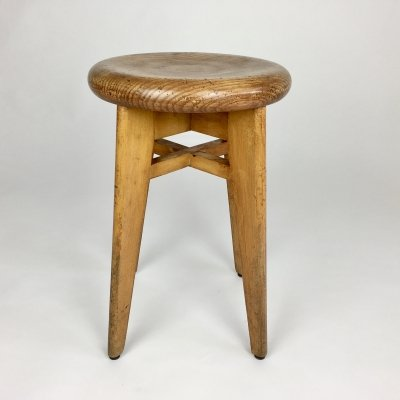 Mid century round stool from France