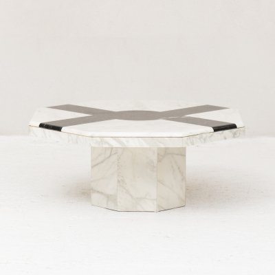 Octagonal marble coffee table, 1970's