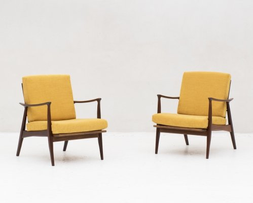 Set of 2 easy chairs, Denmark 1960's