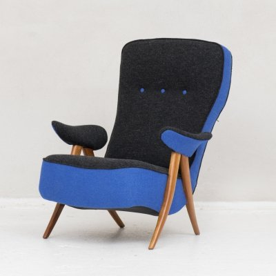 Easy chair 'penguin' (model 107) by Theo Ruth for Artifort, Netherlands 1960's