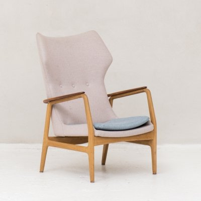 High back easy chair by Aksel Bender Madsen for Bovenkamp, Dutch design 1950's
